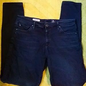"""AG """"The Midi"""" Stretch Skinny Dark Leggings Jeans"""